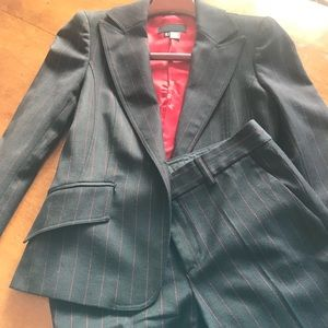 Zara pinstripe black and red 2piece suite